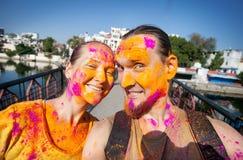 Celebrazione di Holi in India fotografia stock libera da diritti
