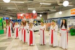 Celebrazione di Lucia in Svezia Fotografia Stock Libera da Diritti