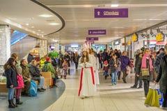 Celebrazione di Lucia in Svezia Fotografia Stock