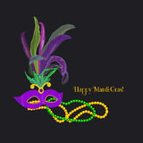 Celebrazione di Mardi Gras illustrazione vettoriale