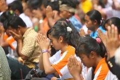 Celebrazione di Melasti in Indonesia Fotografia Stock Libera da Diritti
