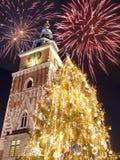 Celebrazione di notte di San Silvestro Fotografie Stock Libere da Diritti