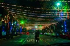 Celebrazione di notte di San Silvestro e di fine d'anno Immagine Stock