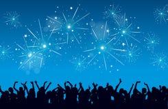 Celebrazione di nuovo anno Immagini Stock Libere da Diritti
