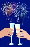 Celebrazione di nuovo anno Fotografie Stock Libere da Diritti