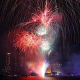 Celebrazione di nuovo anno felice Fotografia Stock Libera da Diritti