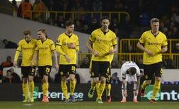 Celebrazione di scopo di Borussia Dortmund fotografia stock libera da diritti