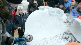 Celebrazione di Shrovetide (Maslenitsa) a Kiev, Ucraina, video d archivio