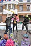 Celebrazione di Shrovetide a Mosca Fotografia Stock Libera da Diritti