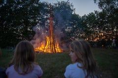 Celebrazione di solstizio di estate fotografia stock libera da diritti