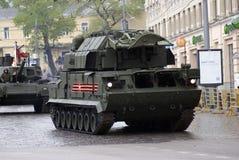 Celebrazione di Victory Day a Mosca tanks immagini stock