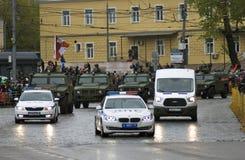 Celebrazione di Victory Day a Mosca tanks immagine stock libera da diritti