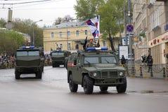 Celebrazione di Victory Day a Mosca tanks immagine stock