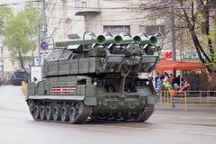 Celebrazione di Victory Day a Mosca tanks fotografie stock libere da diritti