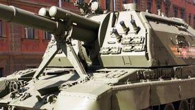 Celebrazione di Victory Day: Pistola automotrice Fotografia Stock Libera da Diritti