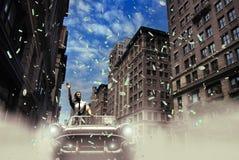 Celebrazione di vittoria Fotografia Stock