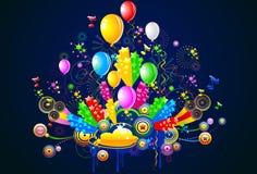 Celebrazione ed illustrazione del partito Fotografie Stock Libere da Diritti