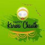 Celebrazione felice di Chauth di karwa royalty illustrazione gratis