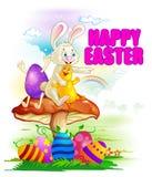Celebrazione felice di festa di Pasqua illustrazione di stock