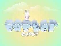 Celebrazione felice di Pasqua con il coniglietto sveglio Fotografia Stock