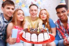 Celebrazione felice di un compleanno Fotografia Stock