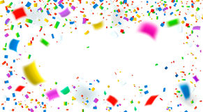 celebrazione Fondo variopinto luminoso dei coriandoli Fotografia Stock