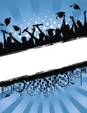 Celebrazione Grunge di graduazione Fotografia Stock Libera da Diritti