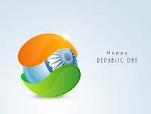 Celebrazione indiana di giorno della Repubblica con la palla lucida Fotografia Stock