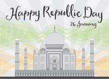 Celebrazione indiana felice di giorno della Repubblica Immagini Stock Libere da Diritti