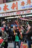 Celebrazione lunare di nuovo anno del Chinatown Immagine Stock Libera da Diritti
