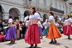 Celebrazione per i 460 anni di fondamento del ` s di Cuenca, Ecuador immagini stock libere da diritti