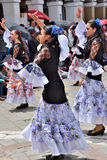 Celebrazione per i 460 anni di fondamento del ` s di Cuenca, Ecuador Fotografia Stock Libera da Diritti