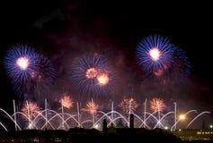 Celebrazione Redentore (Venezia, Italia) del fuoco d'artificio Immagini Stock Libere da Diritti