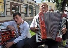 Celebrazione ricamo e del borscht_9 Fotografie Stock Libere da Diritti
