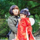 celebrazione Shichi-andare-san a Dazaifu Tenmangu Fotografie Stock Libere da Diritti
