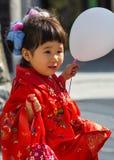 celebrazione Shichi-andare-san a Dazaifu Tenmangu Fotografia Stock Libera da Diritti