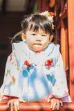 celebrazione Shichi-andare-san a Dazaifu Tenmangu Immagine Stock Libera da Diritti