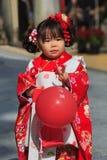 celebrazione Shichi-andare-san a Dazaifu Tenmangu Fotografia Stock