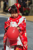 celebrazione Shichi-andare-san a Dazaifu Tenmangu Immagini Stock