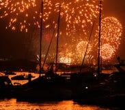 Celebrazione Sydney 2014 dei fuochi d'artificio Fotografie Stock