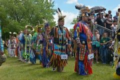 Celebrazione in tensione di giorno aborigeno in Winnipeg Fotografia Stock