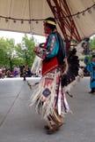 Celebrazione in tensione di giorno aborigeno in Winnipeg Fotografie Stock Libere da Diritti
