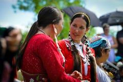 Celebrazione in tensione di giorno aborigeno in Winnipeg immagini stock
