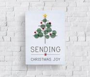 Celebrazione Tinsel Concept dell'albero di Natale Fotografie Stock Libere da Diritti