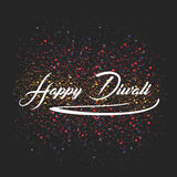 Celebrazione tradizionale dell'illustrazione di vettore del diwali felice Festival delle lampade accese olio elegante delle luci  Immagine Stock Libera da Diritti