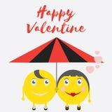Celebrazione Valentine Day felice - 14 febbraio - cuore di amore - emoticon illustrazione di stock