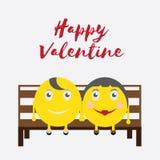 Celebrazione Valentine Day felice - 14 febbraio - cuore di amore - emoticon royalty illustrazione gratis