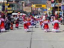 Celebrazioni aborigene Huaraz, Perù Fotografia Stock