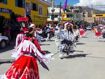 Celebrazioni aborigene Huaraz, Perù Fotografie Stock