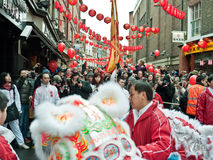 Celebrazioni cinesi di nuovo anno Immagini Stock Libere da Diritti